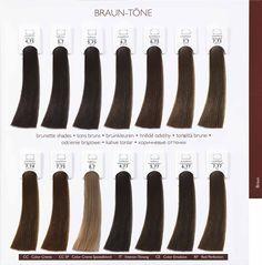 Alcina Hair Coloring Brown Tones.