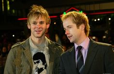 """Dominic Monaghan and Billy Boyd...they still look like rascal hobbits, even in their """"street"""" clothes! :)"""