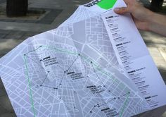 Design Walk Map 2012 by Aleksandra Kot, via Behance