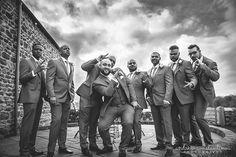fun shot of the groom and groomsmen!