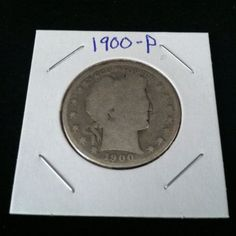 1900 Barber 90% Silver Half Dollar .900 Fine Silver & Free USA Shipping #silver #barber #coins #c2cth