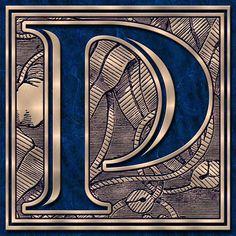 Presentation Alphabets: Drop Caps Letter P - Style 009