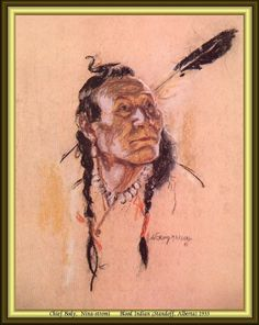 Chief Body, Nina-stromi - Blood Indian (Standoff, Alberta) 1933 by Nicholas de Grandmaison.