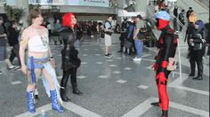 funny Deadpool cosplay | Deadpool cosplay comic-con gif