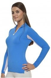 Kastel Denmark Charlotte Zip Royal Blue Long Sleeve Shirt
