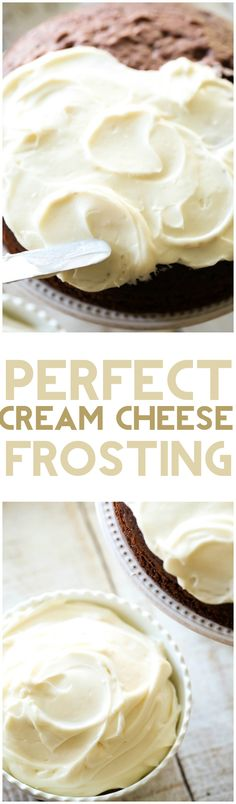 Cream Cheese Frosting Perfect Cream Cheese Frosting - This cream cheese frosting is perfection! Smooth, fluffy and absolutely delicious!Perfect Cream Cheese Frosting - This cream cheese frosting is perfection! Smooth, fluffy and absolutely delicious! Homemade Frosting, Frosting Recipes, Cake Recipes, Dessert Recipes, Carrot Cake Frosting, Carrot Cakes, Just Desserts, Delicious Desserts, Yummy Food