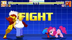 Spider-Man And Pinkie Pie VS Homer Simpson And Sabretooth In A MUGEN Match / Battle / Fight This video showcases Gameplay of Spider-Man The Superhero And Pinkie Pie From The My Little Pony Friendship Is Magic Series VS Homer Simpson From The Simpsons Series And Sabretooth In A MUGEN Match / Battle / Fight