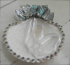 Shell wedding dish/Ring bearer pillow