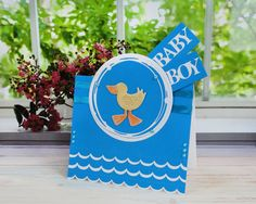 How to Make a Duck Baby Boy Card #TatteredLace #StephanieWeightman #Papercraft #DieCutting