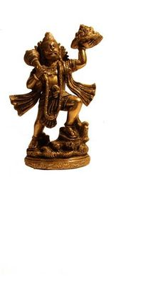 Buy Lord Hanuman Holding Up a Mountain Brass Metal