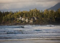 Great waves and a breathtaking backdrop. The Wickannish Inn at Tofino, Canada
