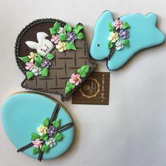 Biscoitos decorados Páscoa.