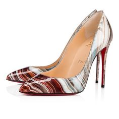 Christian Louboutin United Kingdom Official Online Boutique - Pigalle Follies Patent Agathe 100 Multicolor Patent Calfskin available online. Discover more Women Shoes by Christian Louboutin Stiletto Pumps, Pointed Toe Pumps, Pumps Heels, High Heels, Christian Louboutin Women, Christian Dior, Red Louboutin, Grey Pumps, Black