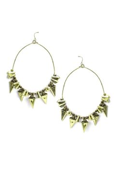 Spiked Charm Earrings Gold    $14