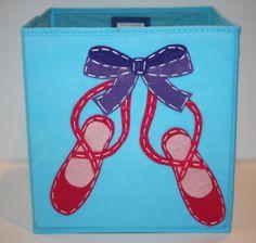 Storage Basket, Kids Storage Bin, Toy Storage, Ballet Decor, Blue. $25,00, via Etsy.