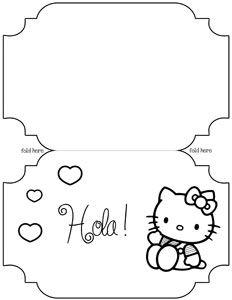 Printable hello kitty card template hello kitty pinterest card printable hello kitty card template maxwellsz