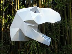 Dinosaur Mask - Make Your Own T-Rex with just Paper and Glue! | Paper Mask | DIY…