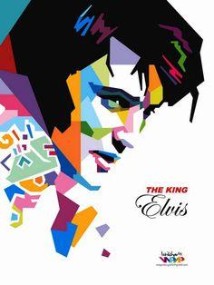 The King Elvis by istikhar on DeviantArt Pop Art Drawing, Art Drawings, Sketch Manga, Pop Art Portraits, Face Art, Art Music, New Art, Cool Art, Art Projects
