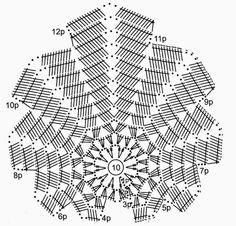 Вязание крючком: Кленовый лист The maple leaf Crochet