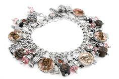 Chocolate Bracelet, Silver Charm Bracelet, Chocolate Jewelry, Chocolate Charms - Blackberry Designs Jewelry