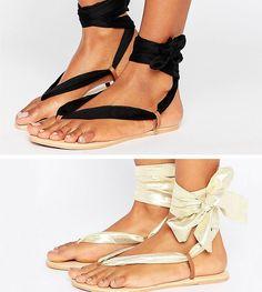 0241460092a ASOS FREAK Interchangeable Tie Leg Flat Sandals - Multi Vêtements De  Vacances