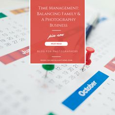 Photographer's Must Read: Time Management: Balancing Family & A Photography Business  I am dreamer. I truly believe I will fulfill my dreams in my head & my heart. My calendar and clock would disagree. Some day, I will have the means to hire a housecleaner or perhaps an assistant. Some day, my children will be in school & I will have more time for working……