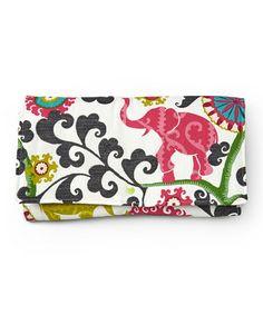 4a9559dc5b835 Brownie Gifts White   Pink Elegant Elephant Diaper Clutch