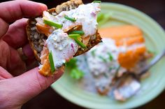 The Best Smoked Salmon Appetizer - Holiday Lox Recipes - horseradish and caper sauce