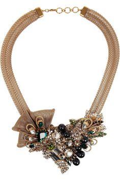 Bijoux Heart|Empire gold-plated Swarovski crystal necklace|NET-A-PORTER.COM