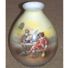 Royal Bayreuth Ovoid Vase  - Musketeers in Pub Offered by Cousins Antiques on rubylane.com