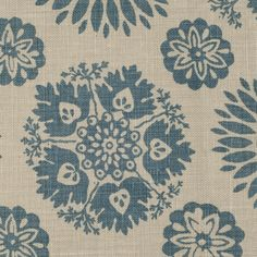lola in blue/slate from kathryn ireland's summers in france collection #fabric #linen #blue
