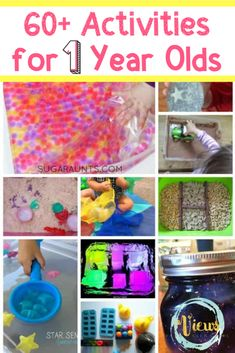 Looking for activities for 1 year olds? You can find TONS of activities for toddlers and preschoolers to do from fun sensory play to fantastic busy bags. The only problem is that a lot of this awesomeness is not geared for one year olds. Toddlers and year Toddler Activities Daycare, Activities For One Year Olds, Toddler Play, Indoor Activities, Infant Activities, Toddler Preschool, Busy Bags For 2 Year Olds, 1year Old Activities, Family Activities