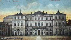 pałac Bruhla - Pocztówka sprzed 1915