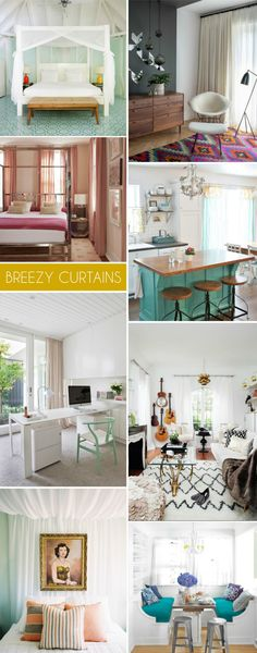Interior Style File: Breezy Curtains