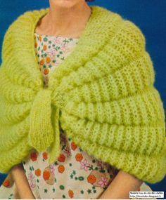 Blog de tricot avec d anciens modèles, des modèles vintages, de châles,  étoles, chauffe-épaules, des tricotages pour se réchauffer les épaules. 7fa595b9913