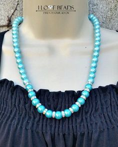 south sea shell pearl necklace-blue pearl necklace-pearl necklace- shell pearl necklace-classic necklace-baby blue pearls-blue pearl jewelry