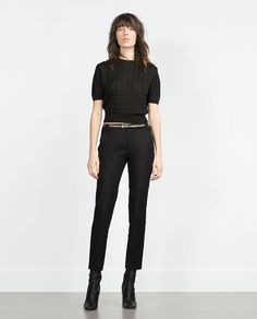 Image 1 of DOUBLE FABRIC TROUSERS from Zara