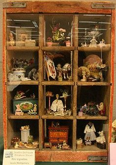Shadow boxes with interesting items!
