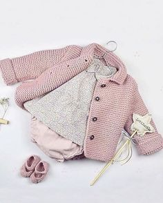 Baby Knitting Patterns Sweaters 847 Likes, 18 Comments – Moda Infantil Made In Spain Baby Knitting Patterns, Knitting For Kids, Baby Patterns, Knitted Baby Cardigan, Crochet Jacket, Baby Girl Jackets, Baby Sweaters, Baby Outfits, Kids Fashion