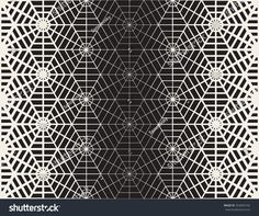Vector Seamless Black And White Geometric Line Grid Spiderweb Shape Pattern Abstract Background