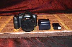 Used Panasonic Lumix DMC-FZ35 Digital Camera Black & Three Batteries / Charger