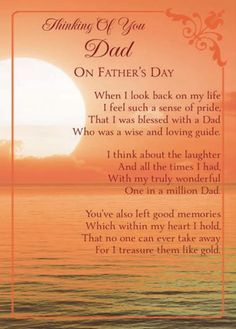 Thinking of you Dad on Father's Day