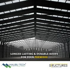 How can you get a roof of top class quality & durability? Bringing to you #RoofingTip 1. Get Malibu Tech's metal roofing systems for your industrial roofs to last longer!  #MalibuTech #Structure #Metal #IndustrialRoof #Durability