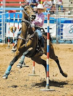 Yeah ... Tell me again how easy riding a horse is.....;) Pole bending