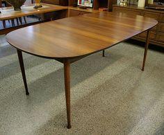 Oval Danish Style Vintage Mid Century Dining Table | Furnish Me Vintage