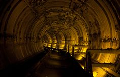 Titan I complex tunnel in Deer Trail, CO. Abandoned underground Cold War missile silo.