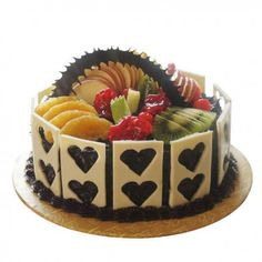 Through Countryoven Order Birthday Cake Online to surprise your beloved ones. Send Online Cake to India with same day delivery from anywhere with just one click. Order Birthday Cake, Fruit Birthday Cake, Order Cake, Happy Birthday Cakes, Birthday Parties, Chocolate Fruit Cake, White Chocolate, Online Cake Delivery, Heart Shaped Cakes