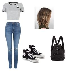 """""""Untitled #4"""" by isabellaacevedo ❤ liked on Polyvore featuring Topshop, WithChic and Converse"""