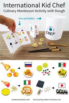 International Kid Chef – Culinary Montessori Activity with Dough | Montessori Nature Blog | Guest Post by Rodrigo - The Box Of Ideas