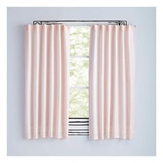 "63"" Light Pink Fresh Linen Curtain (514.995 IDR) ❤ liked on Polyvore featuring home, home decor, window treatments, curtains, pale pink curtains, soft pink curtains, linen window treatments, light pink curtains and linen drapery"
